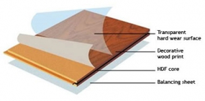 Let's review each of the four layers starting with the bottom layer  [labeled D] What are Laminate ...